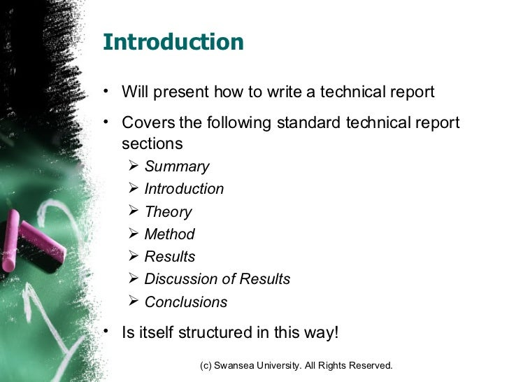 Engineering Technical Reports