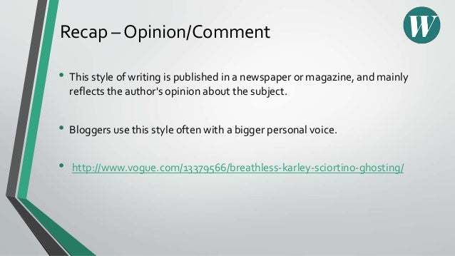How to write opinion articles