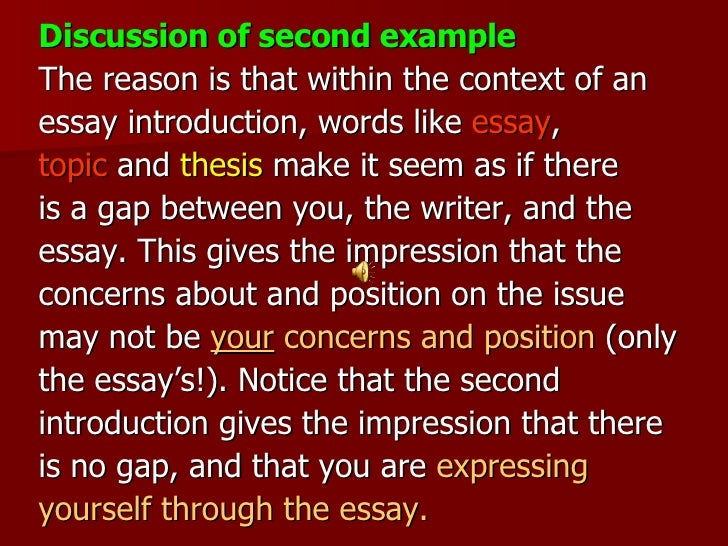 writing an introduction for a discussion essay