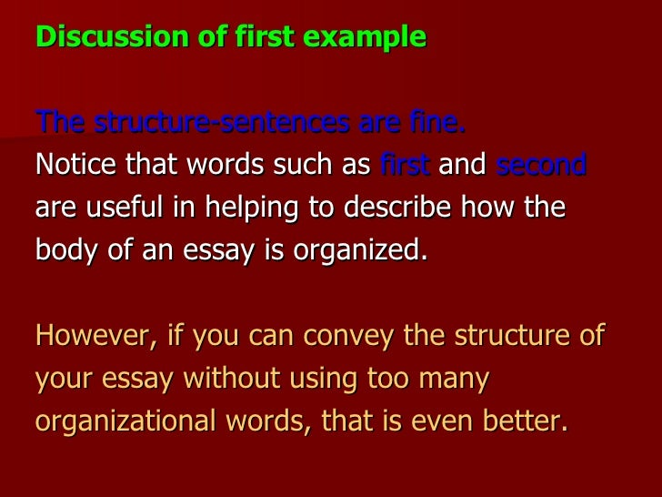 good introduction discussion essay Learn how to write a strong essay introduction with essay introductions write an introduction that you could follow this with a short discussion of how.