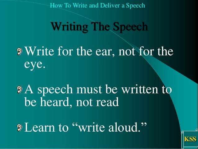 speech writing techniques
