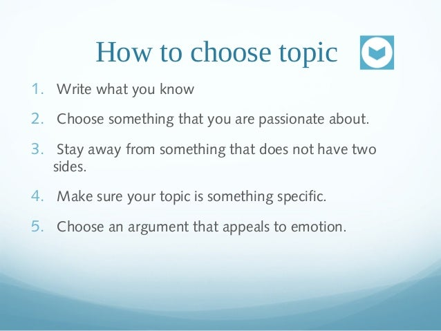 Can you help me choose an Argumentation Essay Topic?