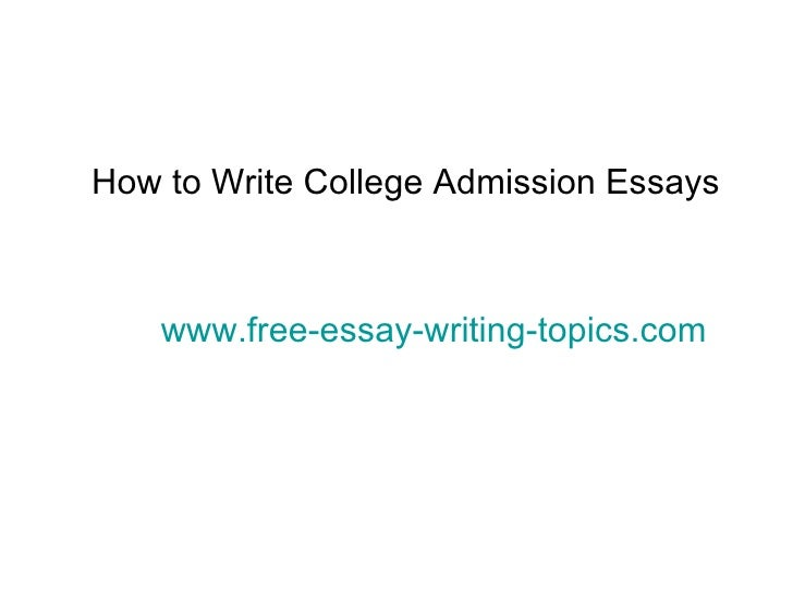 how to write an essay to apply for college