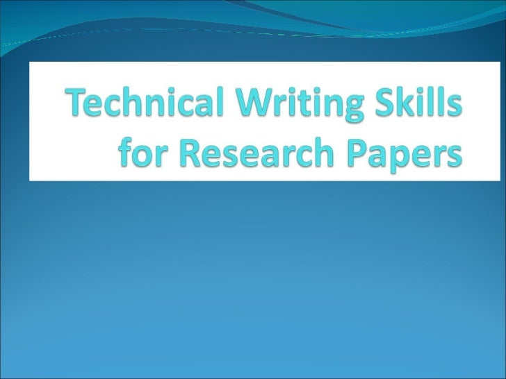 Technical research paper writing