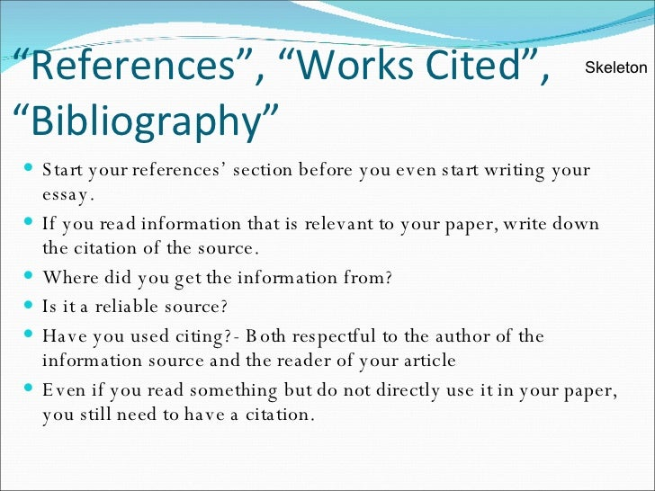 References For Research Paper