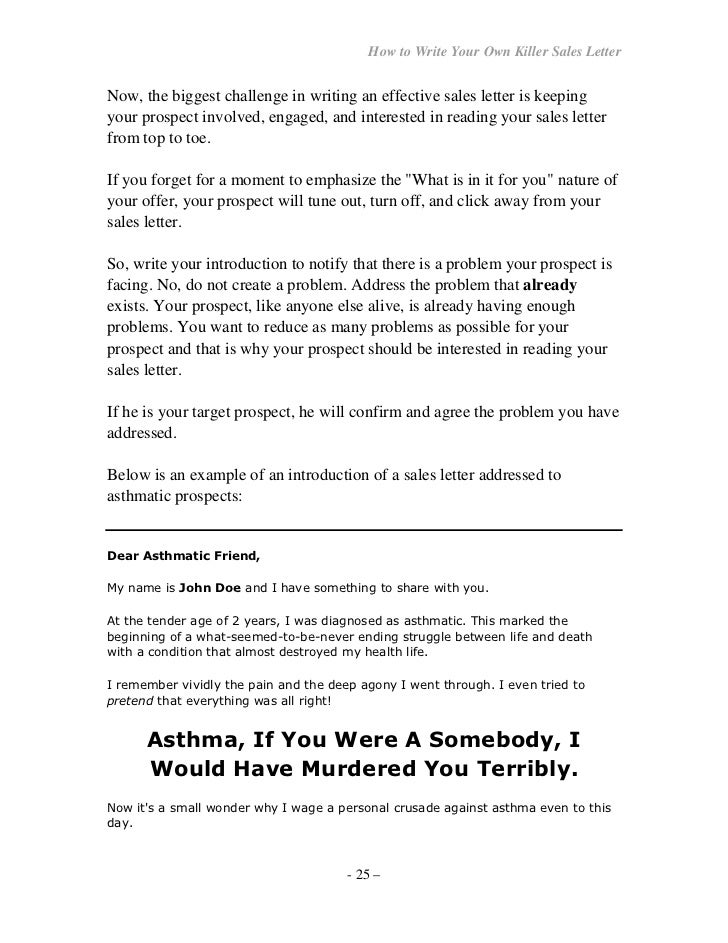 How to write effective sales letters