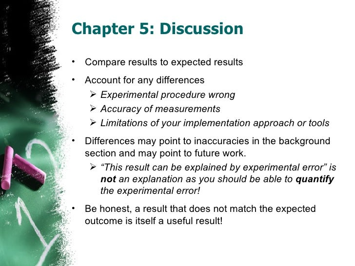 Write discussion chapter dissertation