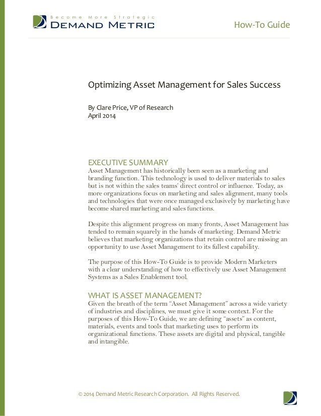 How-To Guide: Optimizing Asset Management for Sales Success
