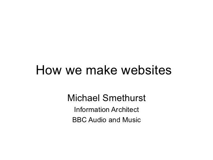 How We Make Websites