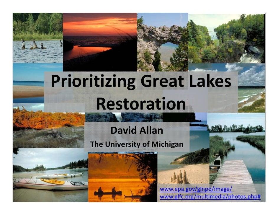 Prioritizing the Great Lakes Restoration