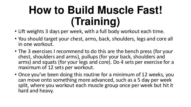 How To Gain Muscle Fast 25