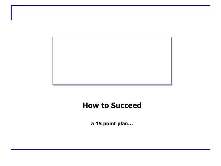 How2 Succeedinlife