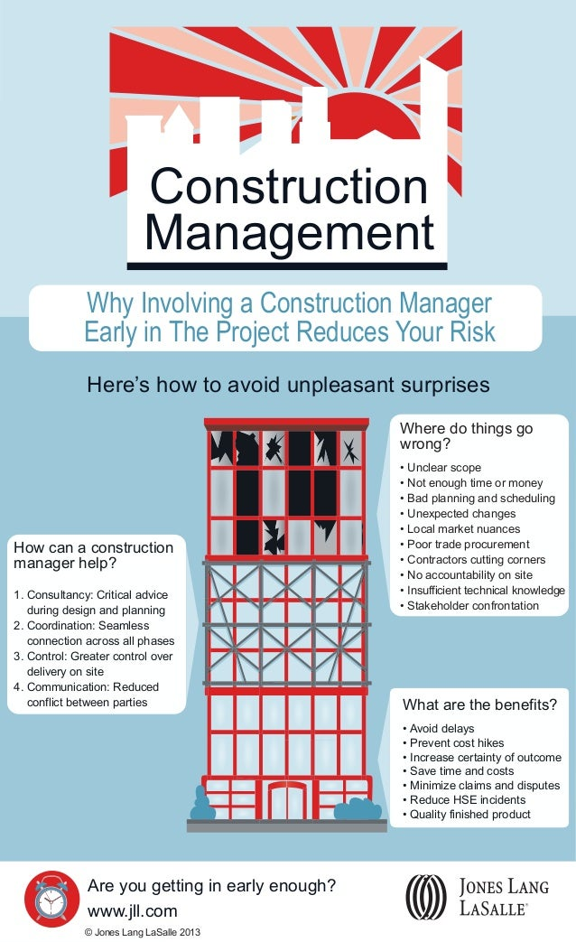 Construction Management Why Involving a Construction Manager Early in The Project Reduces Your Risk Here's how to avoid un...