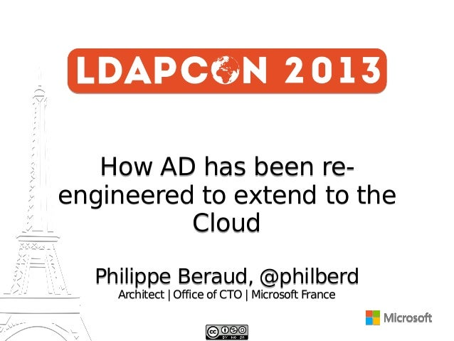 How AD has been reengineered to extend to the Cloud Philippe Beraud, @philberd Architect | Office of CTO | Microsoft Franc...