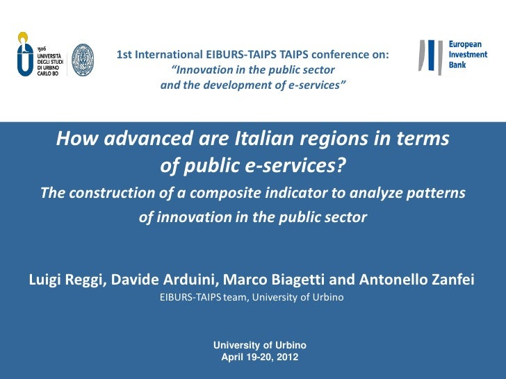 """1st International EIBURS-TAIPS TAIPS conference on:                       """"Innovation in the public sector                ..."""