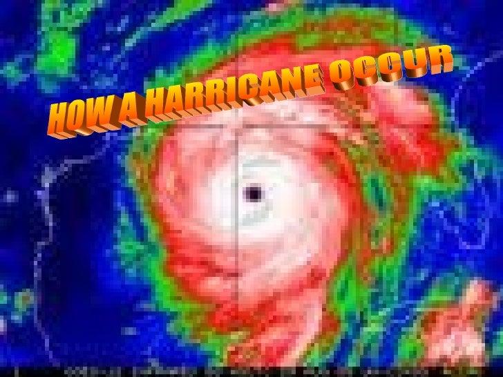 How a hurricane occours