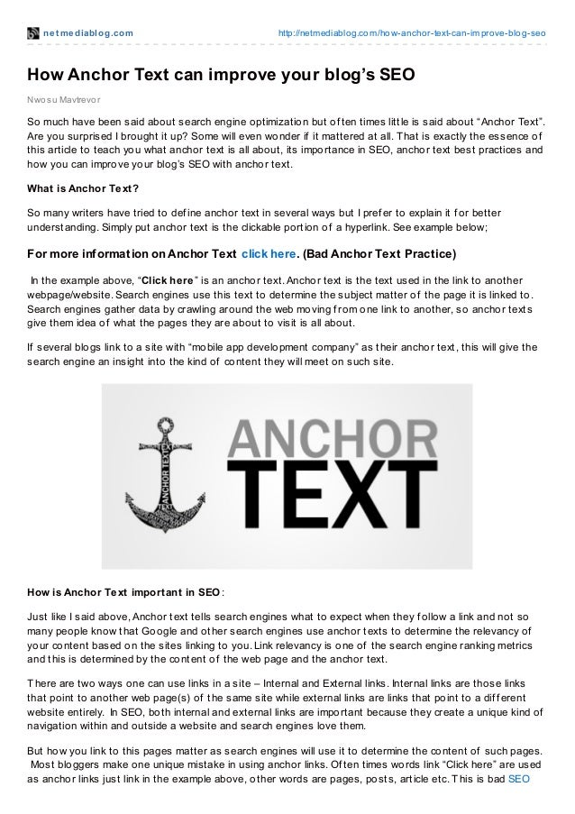 net mediablog.com http://netmediablog.com/how-anchor-text-can-improve-blog-seo Nwosu Mavtrevor How Anchor Text can improve...