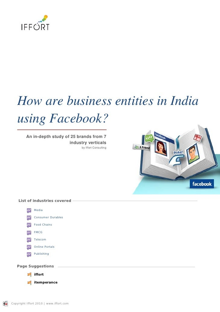 How are business entities in india using facebook final