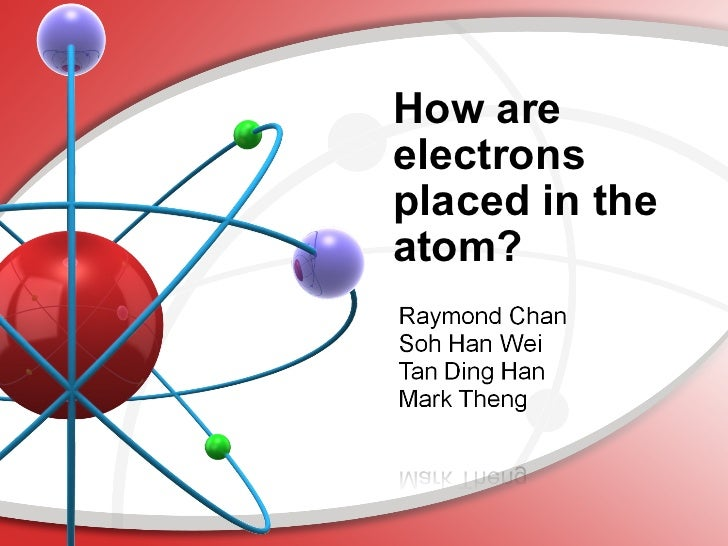 How are electrons placed in the atom?