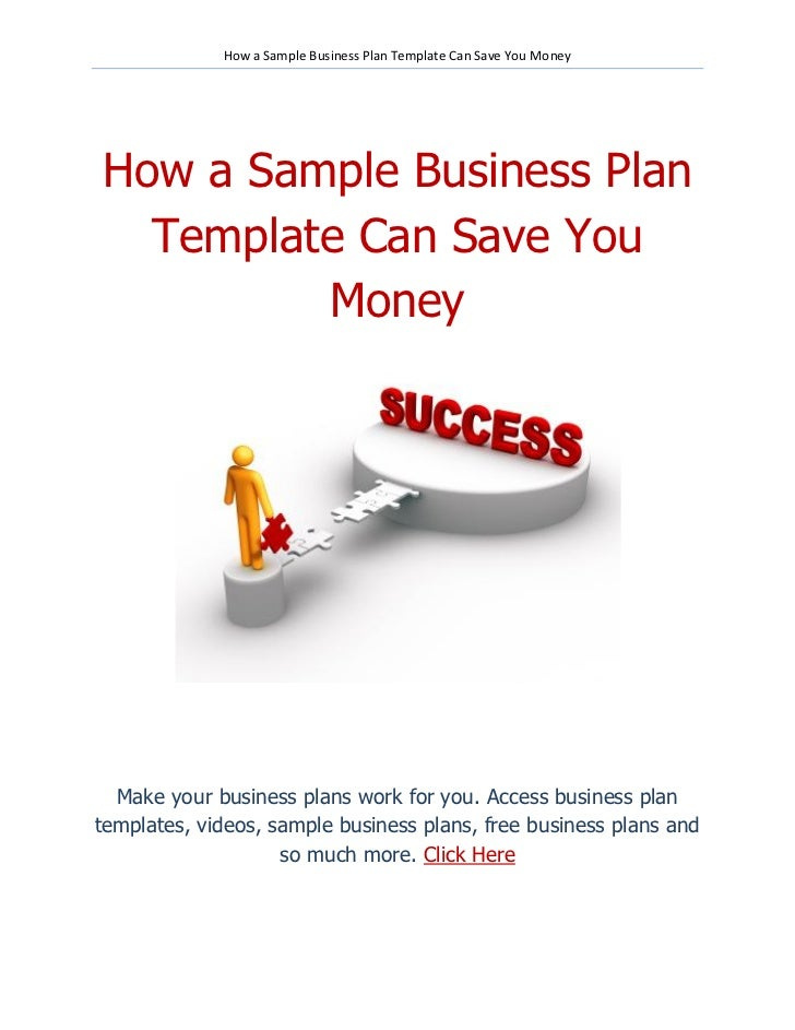 How a Sample Business Plan Template Can Save Money