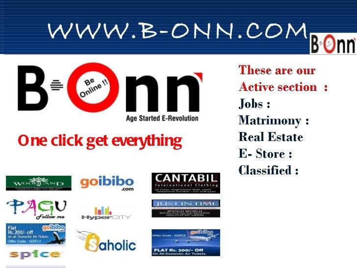 WWW.B-ONN.COM One click get everything