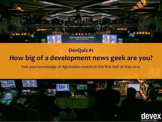 How big of a development news geek are you?