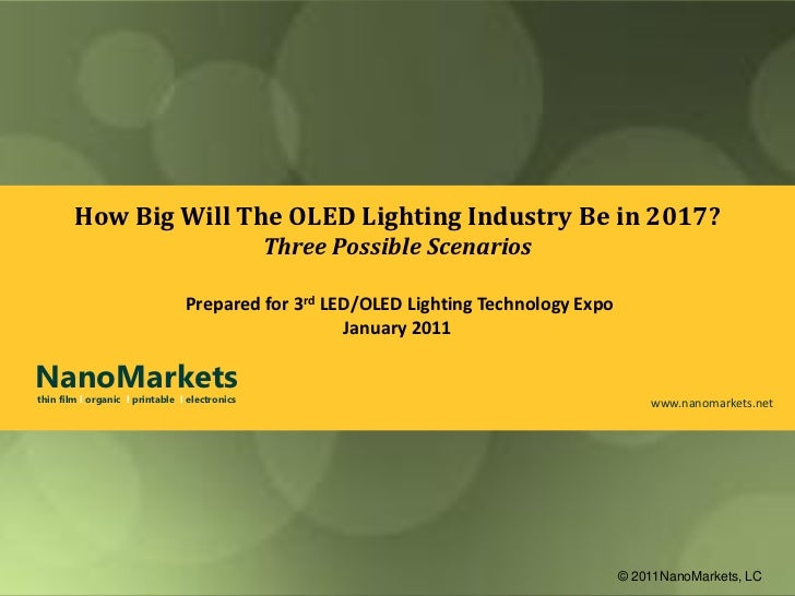 How Big Will The OLED Lighting Industry Be in 2017?                                                Three Possible Scenario...