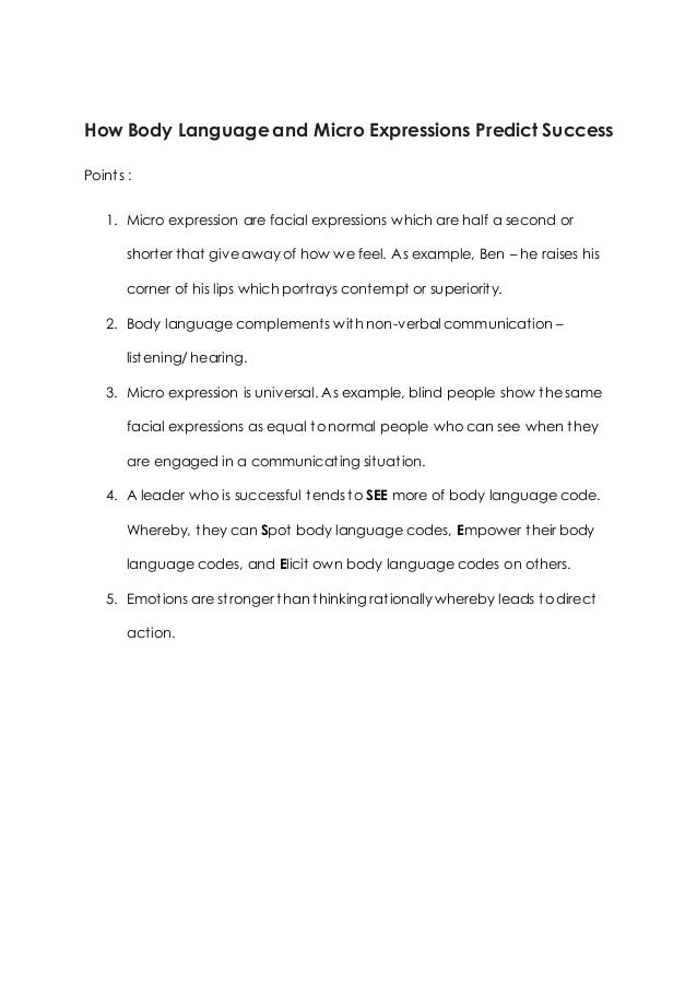 Body Of The Essay Example