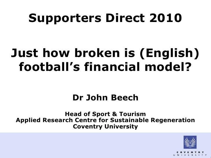 Just how broken is football's financial model?