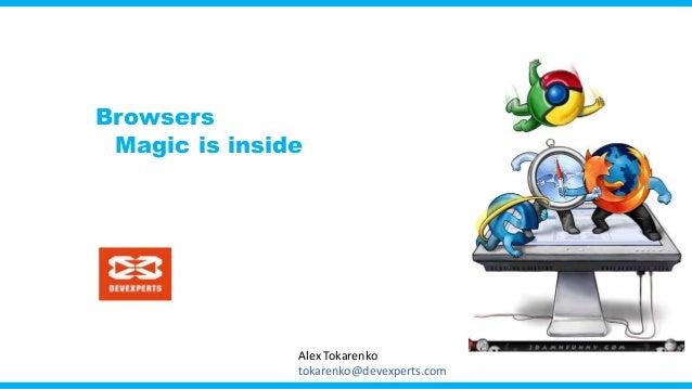 Browsers Magic is inside Alex Tokarenko tokarenko@devexperts.com
