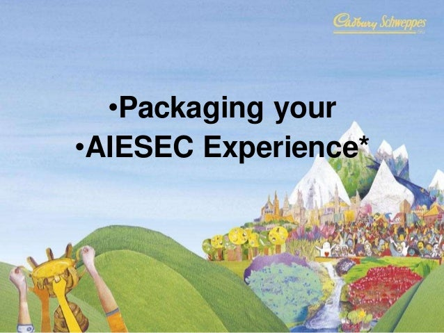 Packaging your AIESEC experience
