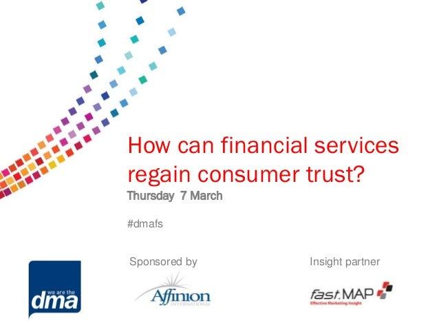 How can financial services regain consumer trust   presentations