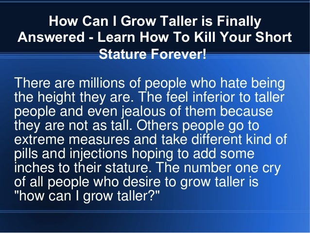secret of grow taller | Grow Taller Tips