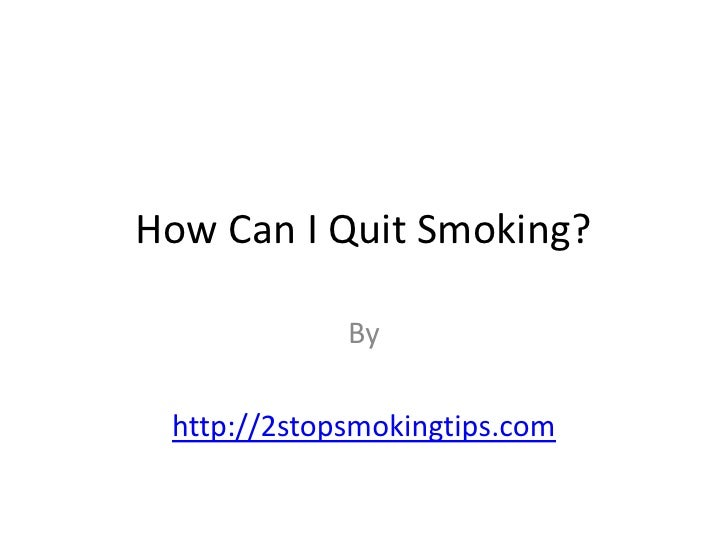 How Can I Quit Smoking?