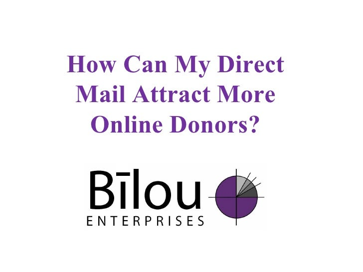 How Can My Direct Mail Attract More Online Donors?