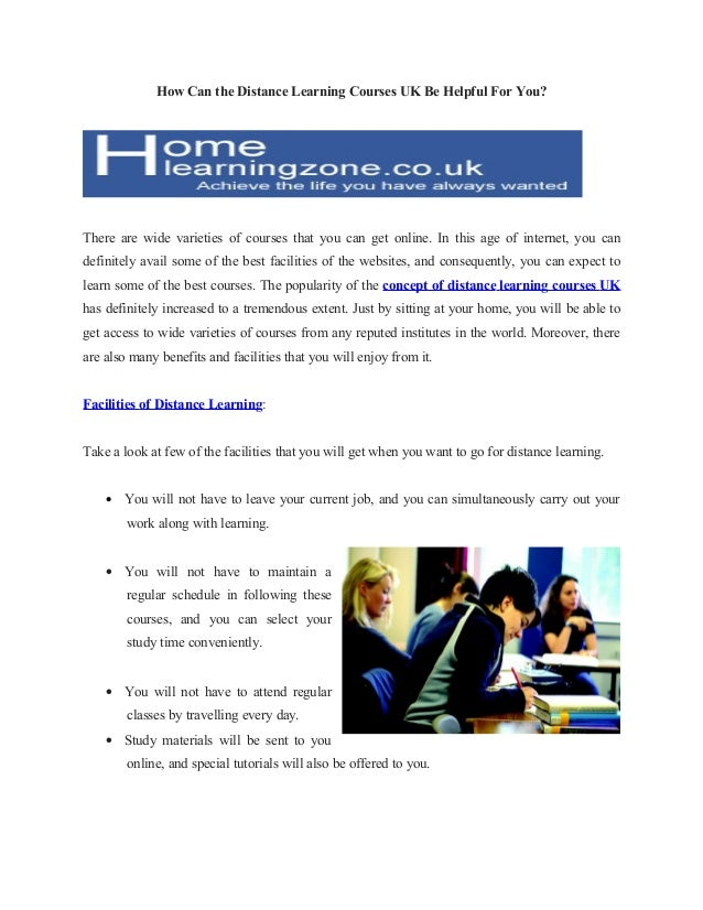 How Can the Distance Learning Courses UK Be Helpful For You?