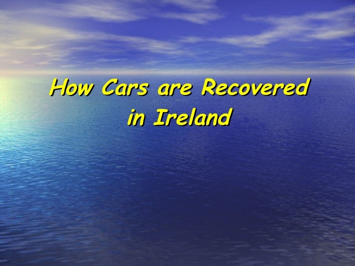 How Cars Are Recovered