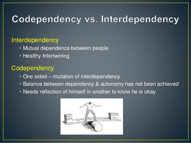 mutual dependence Interdependence in nature i interdependence a the fact or condition of depending upon each other mutual dependence b the interrelations and interdependencies.