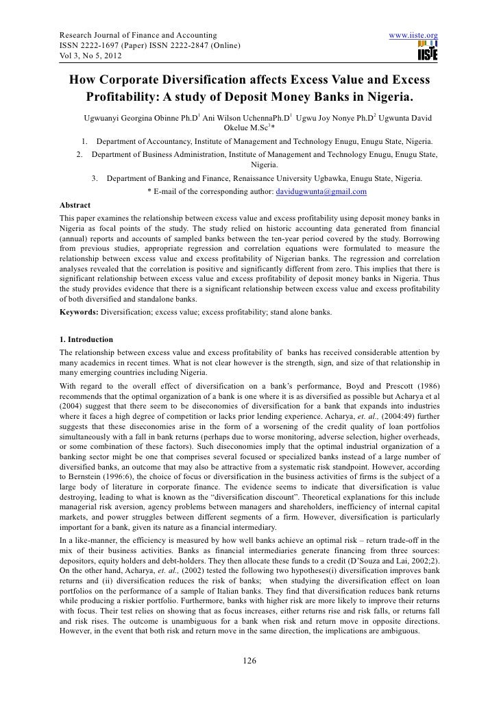 Research Journal of Finance and Accounting                                                           www.iiste.orgISSN 222...