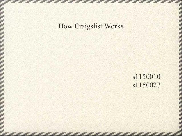 How Craigslist Works s1150010 s1150027