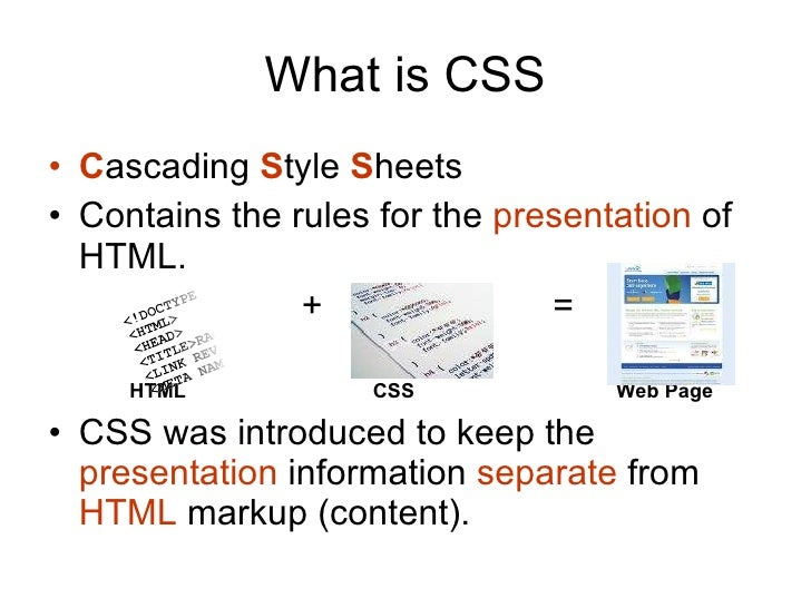 How cascading style sheets css works What is style