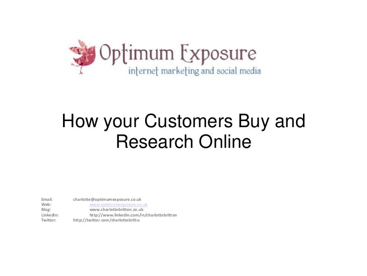 How customers shop & research online