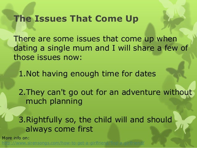 single mums and dating