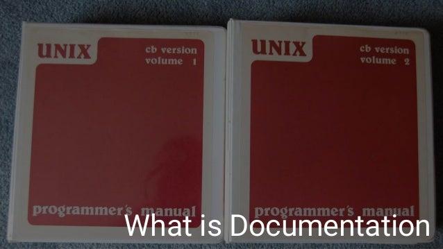 How to write documentation