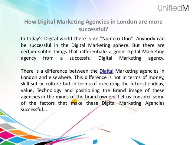 """How Digital Marketing Agencies in London are moresuccessful?In todays Digital world there is no """"Numero Uno"""". Anybody canb..."""