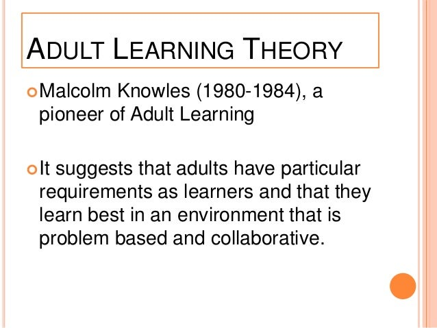 biography of malcolm knowles Dusan savicevic, who provided knowles with the term andragogy,  an historical biography of malcolm s knowles: the remaking of an adult educator.