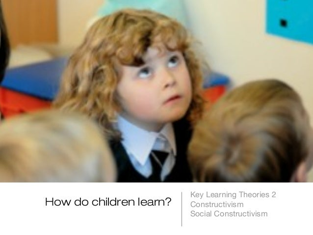 How do children learn?  Key Learning Theories 2 Constructivism Social Constructivism
