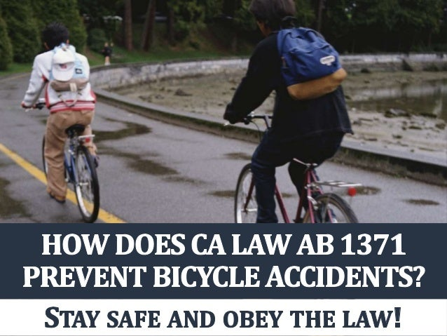 How Does CA Law AB 1371 Prevent Bicycle Accidents