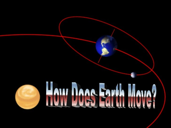 Earth moves all the time.