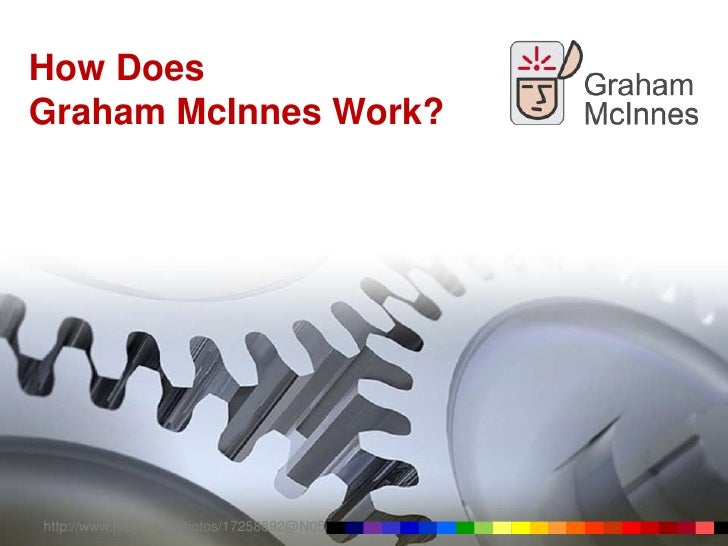 How Does Graham McInnes Work? http://www.flickr.com/photos/17258892@N05/
